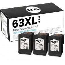 HP63XL F6U64AN RECYCLED BLACK INKJET CARTRIDGE (BOX CONTAINS 3 CARTRIDGE CASES AND 1 PRINTHEAD)