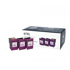 HP67XL 3YM58AN RECYCLED COLOR INKJET CARTRIDGE (BOX CONTAINS 3 CARTRIDGE CASES AND 1 PRINTHEAD)