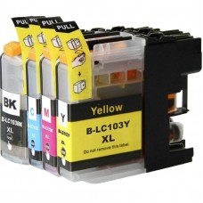 COMBO BROTHER LC101/103BK/C/M/Y XL COMPATIBLE INKJET BLACK/C/M/Y CARTRIDGE