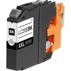 BROTHER LC20EBK XXL COMPATIBLE INKJET BLACK CARTRIDGE EXTRA HIGH YIELD