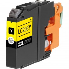 BROTHER LC20EY XXL COMPATIBLE INKJET YELLOW CARTRIDGE EXTRA HIGH YIELD