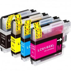 COMBO BROTHER LC61/LC65 BK/C/M/Y XL COMPATIBLE INKJET BLACK/C/M/Y CARTRIDGE