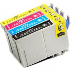 COMBO EPSON T125 BK/C/M/Y XL COMPATIBLE INKJET BLACK/C/M/Y CARTRIDGE
