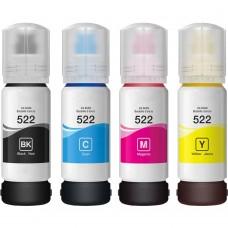 COMBO EPSON T522 COMPATIBLE BLACK/CYAN/MAGENTA/YELLOW INK BOTTLE