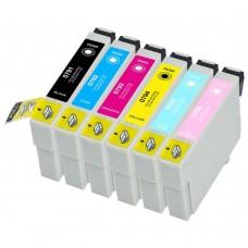 COMBO EPSON T079 BK/C/M/Y/LC/LM XL COMPATIBLE INKJET BLACK/C/M/Y/LC/LM CARTRIDGE