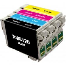 COMBO EPSON T088 BK/C/M/Y XL COMPATIBLE INKJET BLACK/C/M/Y CARTRIDGE