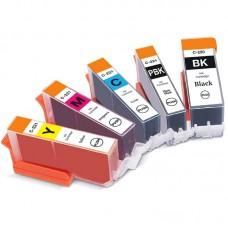 COMBO CANON PGI-220/CLI-221 BK/PBK/C/M/Y XL COMPATIBLE INKJET BLACK/PBK/C/M/Y CARTRIDGE
