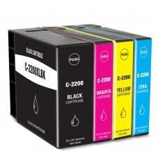 COMBO CANON PGI-2200 BK/C/M/Y XL COMPATIBLE INKJET BLACK/C/M/Y CARTRIDGE