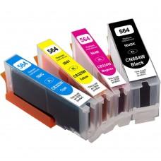 COMBO HP564XL BK/C/M/Y COMPATIBLE INKJET BLACK/C/M/Y CARTRIDGE