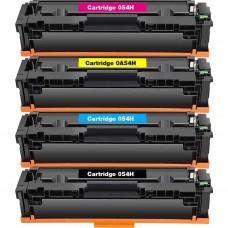 COMBO CANON 054H BK/C/M/Y LASER COMPATIBLE TONER BLACK/C/M/Y CARTRIDGE HIGH YIELD
