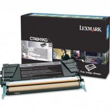 LEXMARK C746H1KG LASER ORIGINAL BLACK TONER CARTRIDGE