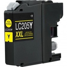 BROTHER LC205Y XXL COMPATIBLE INKJET YELLOW CARTRIDGE ULTRA HIGH YIELD