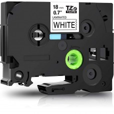 """BROTHER TZE-241 LABEL TAPE 18MM (0.7 """") COMPATIBLE (BLACK ON WHITE)"""