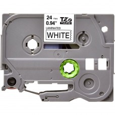 """BROTHER TZE-252 LABEL TAPE 24MM (0.94 """") COMPATIBLE (RED ON WHITE)"""