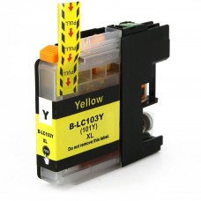 BROTHER LC101Y/LC103Y XL COMPATIBLE INKJET YELLOW CARTRIDGE
