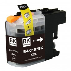 BROTHER LC107BK XXL COMPATIBLE INKJET BLACK CARTRIDGE