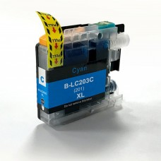 BROTHER LC201C/LC203C XL COMPATIBLE INKJET CYAN CARTRIDGE