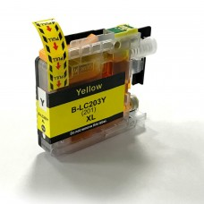 BROTHER LC201Y/LC203Y XL COMPATIBLE INKJET YELLOW CARTRIDGE