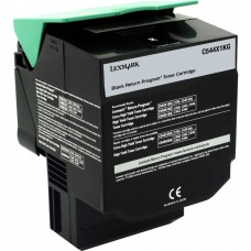 LEXMARK C544X1KG LASER RECYCLED BLACK TONER CARTRIDGE